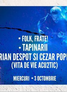 QFest: Adrian Despot si Cezar Popescu, Tapinarii, Folk, Frate!