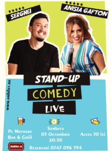 Stand up comedy cu Anisia Gafton
